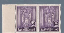 AUSTRIA  AUTRICHE ÖSTERREICH MNH** 1946   S. STEFANO 12+48 GR PAAR - 1945-.... 2ème République