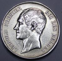 LEOPOLD I ROI DES BELGES  1850   5 FRANCS ARGENT  _ 2 SCANS - 1831-1865: Léopold I