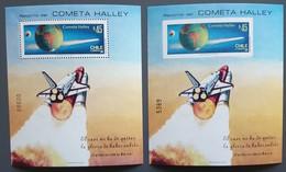 Chili -  Blocs Feuillets  - Passage De La Comète De Halley / Espace - 1985 - Neufs - Chili