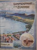 Switzerland Old Fahrplan Zürichsee - Switzerland