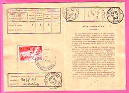 200F  CHAR SOLEIL PA 19 SUR CARTE ABONNEMENT AUX TIMBRES OBLI PARIS AFFRANCHISSEMENT 1947 A SERVIR A NEUILLY - 1921-1960: Modern Period