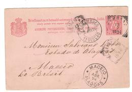 14039 - Entier  Pour Le BRESIL - Indes Néerlandaises