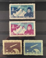 North Korea 1959 & 1961, 2 Nice Set Of Space Stamps, Michel 171A-172B Mint & Michel 316-317 Used. CV€11.- - Korea, North