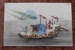 CPA (CHINE / CHINA) REPRESENTATION DE TIMBRES - COLLAGE DE TIMBRES - SEMEUSE - BATEAU - Stamps (pictures)