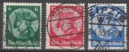 Deutsches Reich    .      479/481       .       O        .      Gebraucht - Deutschland
