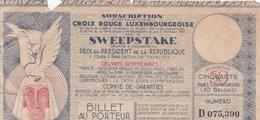 Croix Rouge Luxembourgeoise, Sweepstake à Paris (Prix Du Prédident De La République). 1934. Billet 50 F - Luxembourg