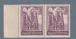 AUSTRIA  AUTRICHE ÖSTERREICH MNH** 1946   S. STEFANO 1+5 SCH PAAR - 1945-.... 2ème République