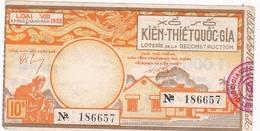 VIETNAM / LOTERIE DE LA RECONSTRUCTION 1953 - Billets De Loterie
