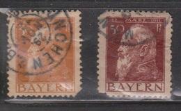 BARVARIA Scott # 82, 84 Used - Corner Faults - Bavaria