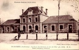 > [08] Ardennes > Rethel /LA GARE /  ATTELAGE    LOT  685 - Rethel