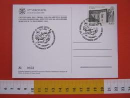 A.08 ITALIA ANNULLO - 2001 VERONA 100 ANNI COLLEGAMENTO RADIO CANADA INGHILTERRA MARCONI RADIO FISICA 1901 - Telecom