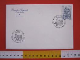 A.08 ITALIA ANNULLO - 2001 MOSSO BIELLA PRESEPE GIGANTE VIVENTE DI MACHETTO NATALE NOEL ABETE - Natale