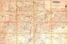 1929 A Mátra Térképe, Kiadja: M. Kir. állami Térképészet, Vászontérkép, 55×85 Cm - Cartes