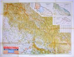 1940 Kárpátalja Térképe, Kiadja A M. Kir. Honvéd Térképészeti Intézet, Reprint Kiadás, 64×80 Cm - Cartes
