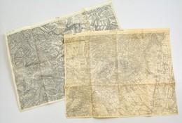 Cca 1910 Pistnyán, Priboj 2 Db Katonai Térkép / Military Maps - Cartes