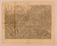 Cca 1905 Románia, Lisa és Zernesti Környéke  Katonai Térkép 40x56 Cm / Romania Lisa And Zernesti Area Map - Cartes