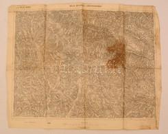 Cca 1905 Izbugyaradvány és Környéke Katonai Térkép 50x38 Cm - Cartes