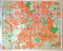 1959 Nuovissima Pianta Di Roma, New Plan Of Rome, Térkép,  Enrico Verdesi, 99x70cm - Cartes