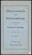 Skitourenkarte Vom Ammergebirge, 1:100.000, München, Oscar Brunnm, A Térkép Hátoldala Foltos, 30x43 Cm. - Cartes