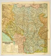 1915 A Szerbiai Háború Térképe. 50x45 Cm. Szakadásokkal - Cartes