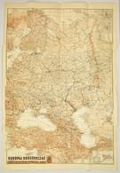 1942 Európai Oroszország, Kiadja: M. Kir. Honvéd Térképészeti Intézet, 92×62 Cm - Cartes