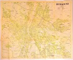 1945 Budapest Térképe, A Legújabb Utcanevekkel, Aquincum Kiadás, 92×76 Cm - Cartes