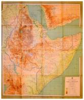 1935 Africa Orientale, Cartografia Dell'Istituto Italiano D'Arti Grafiche, 100×120 Cm - Cartes