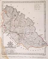 1811 Máramaros Vármegye. ComitatusMaramarosiensis. Színezett Rézmetszet, Papír, 24x32 Cm A Vármegye Közigazgatási Térkép - Cartes