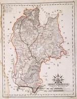 1811 Hont Vármegye. Comitatus Honthensis. Színezett Rézmetszet, Papír, 24x32 Cm A Vármegye Közigazgatási Térképe és Címe - Cartes