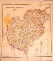 1941 Maros-Torda Vármegye Térképe, Kiadja: Magyar Kir. Honvéd Térképészeti Intézet, 100×83 Cm - Cartes
