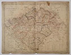 1806 Kipferling, Karl Josef: Charte Von Boehmen / Bohémia Térképe Rézmetszet. Beszakadásokkal 42,5x32,5 Cm - Cartes