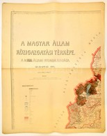 A Magyar Állam Közigazgatási Térképe. Mérték: 1 : 400.000. (Bp.), 1914, M. Kir. Államnyomda. 8 Színes Térképszelvény. A  - Cartes