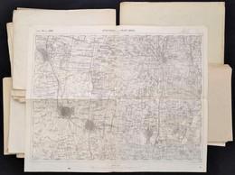 32 Db Katonai Térkép (Szombathely, Fünfkirchen, Komárom, Hajós, Baja, Stb.) - Cartes