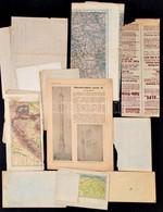 Vegyes Térkép Tétel (A Világháború Térképe, Plan Von Bolzano, Máramaros Vármegye Térképe, Stb.), 13 Db - Cartes
