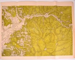 Cca 1920 7 Db Nagyméretű Erdélyi Domborzati Térkép Kiváló állapotban / 7 Geograhical Maps Of Parts Of Transylvania 80x65 - Cartes