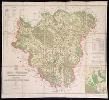 Sáros Vármegye Közigazgatási és Földmívelési Térképe. Szerkesztetett és Nyomatott A M. Kir. államnyomdában. Mérték: 1 :  - Cartes