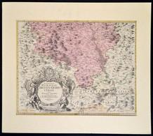 Homann, Johann Baptist (1663-1724): Csehország, Morvaország Az Olmüci Részek Térképe. Rézmetszetű Térkép.. Paszpartuban. - Cartes