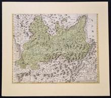 Homann, Johann Baptist (1663-1724) - Johann Christian Müller: Morvaország, Prerov Környékének Rézmetszetű Térképe. Paszp - Cartes