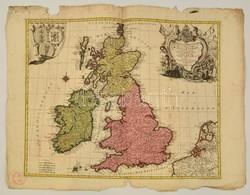 1764 Tobias Conrad Lotter (1717-1777): Nagy Britannia és Írország Rézmetszetű Térképe.  La Grande Bretagne Ou Les Royaum - Cartes