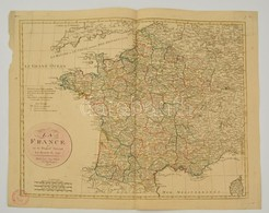 Franciaország Térképe Az 1790-es Reform Után. Jean Walch: Le Royaume De France En 83 Departs Suivant Les Decrets De 1790 - Cartes