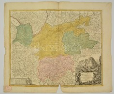 Cca 1700 Tirol Térképe. Comitatus Principalis Tirolis In Quo Episc. Tridentin Et Brixensis Comitatus ... Homann, Johann  - Cartes