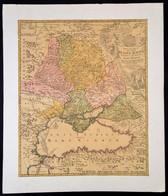 1720 Johann Baptist Homann: Oroszország és A Fekete Tenger Környékének Térképe. Tabula Geographica Qua Pars Russiae Magn - Cartes