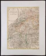 Coxe, William, (1747-1828): Svájc Nyugati Felének Térképe.  Carte De La Suisse, Ou Lon A Marqué Les Routes Suivies. Szín - Cartes