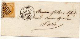 Paris - LSC Affr N° 21 Obl Losange HS2 (chiffre 2 Romain) - Càd Type 1528 - Postmark Collection (Covers)