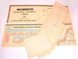 Magyarország Közigazgatási és Közlekedési Térképe 1926.Szerkesztette és Kiadja A M. Kir. Központi Statisztikai Hivatal.  - Cartes