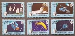 Gambie - YT N°581 à 586 - Passage De La Comète De Halley / Espace - 1986 - Neufs - Gambie (1965-...)