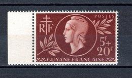 GUYANE  N° 179  NEUF SANS CHARNIERE COTE  1.55€   ENTRAIDE - Neufs