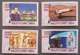 Sierra Leona - YT N°712 à 715 - Passage De La Comète De Halley / Espace - 1986 - Neufs - Sierra Leone (1961-...)