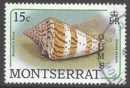 Montserrat. 1989 Official. 15c Used. SG O78 - Montserrat