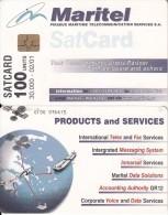 GREECE - MARITEL Satellite Card 100 Units, Tirage 30000, 02/01, Used - Boats